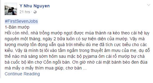 #firstsevenjobs of Nhu Y Nguyen