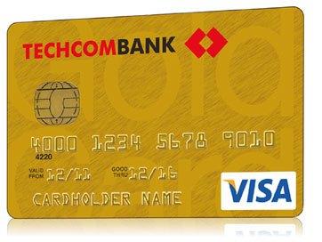 the-tin-dung-techcombank-visa-vang