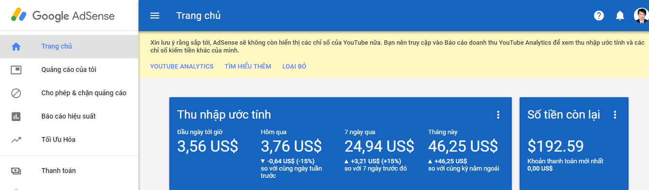 Google adsense - thu nhập từ Blog