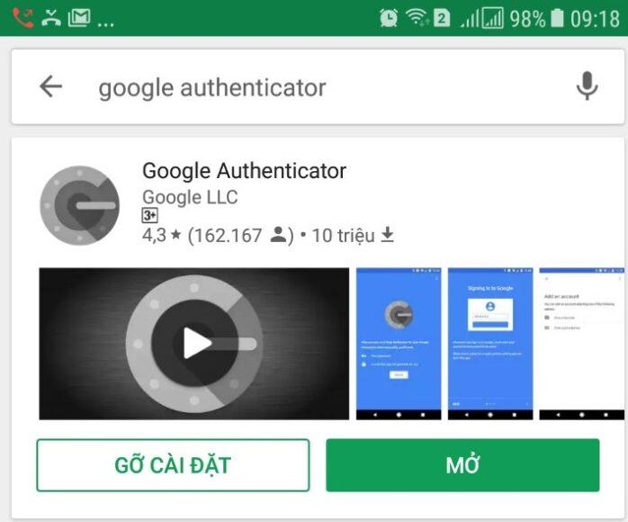 su dung Google Authenticator 1