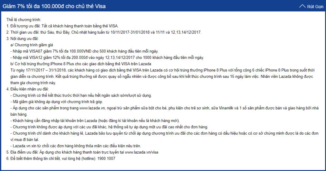 xem the le chuong trinh uu dai danh cho the tin dung 2