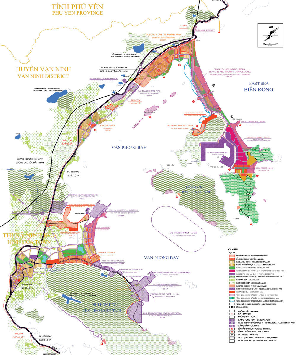 quy hoạch chi tiết đặc khu kinh tế Bắc Vân Phong