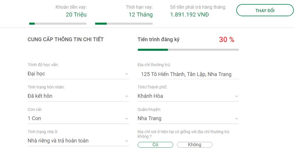 Huong dan vay tien online VPBank 3