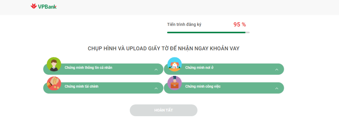 Huong dan vay tien online vpbank 9