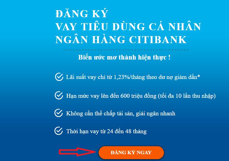 điền thông tin vay tín chấp ngân hàng Citibank1