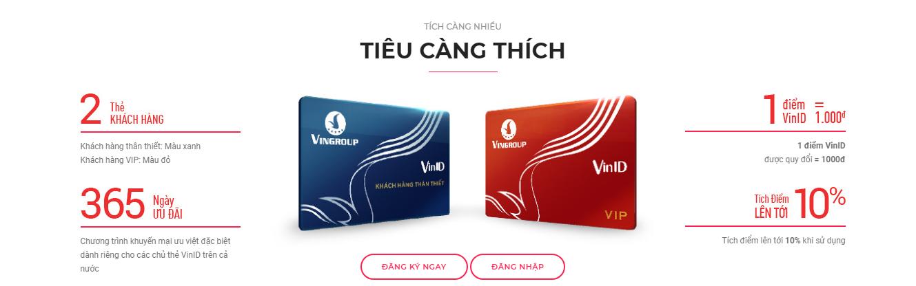 lợi ích của thẻ VinID