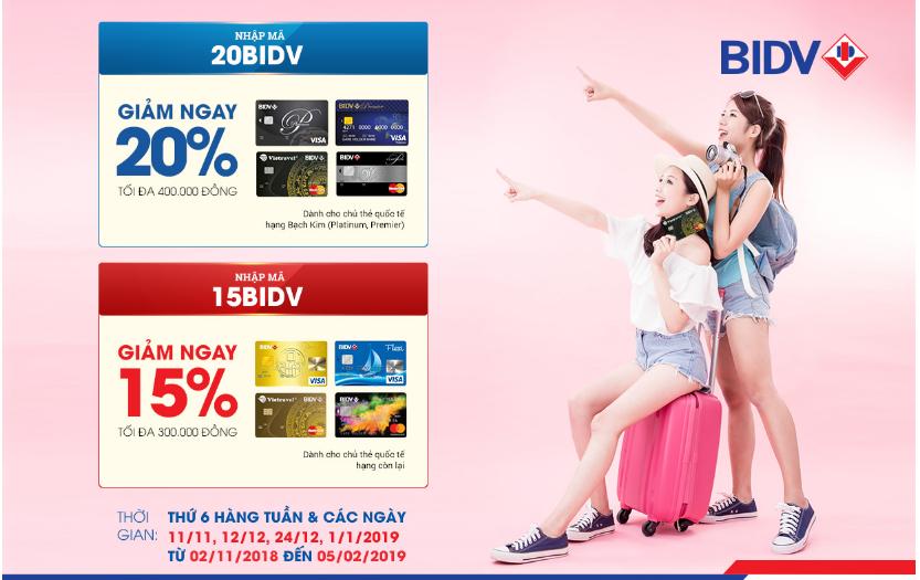Ưu đãi thẻ tín dụng tháng 11 BIDV
