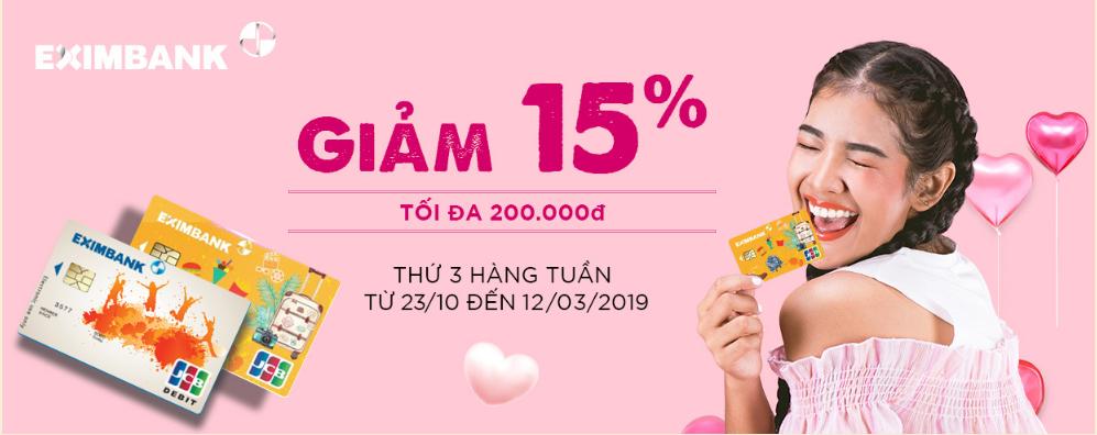 Ưu đãi thẻ tín dụng thasg 11 Eximbank trên adayroi