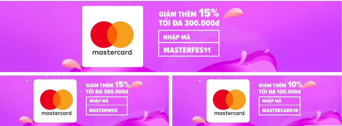ưu đãi thẻ tín dụng tháng 11 Mastercard trên lazada