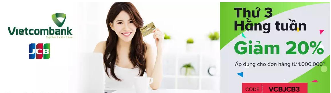 Ưu đãi thẻ tín dụng tháng 11 Vietcombank trên lazada