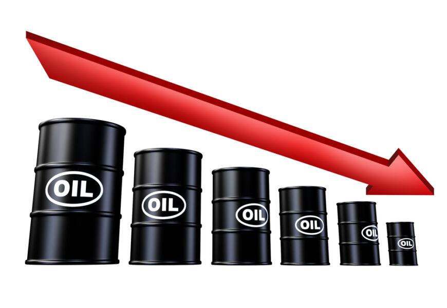 giá dầu thô sụp đổ