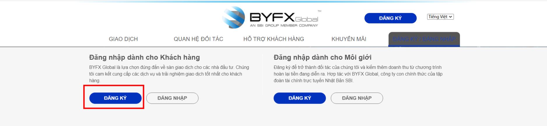 tao tai khoan tren san BYFX