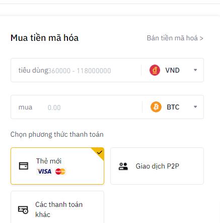 cách mua Bitcoin bằng thẻ tín dụng 1