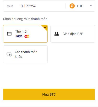 Mua BTC bằng thẻ tín dụng 2