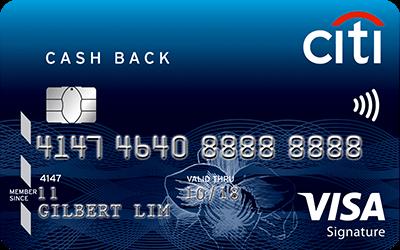 thẻ tín dụng citibank cashback