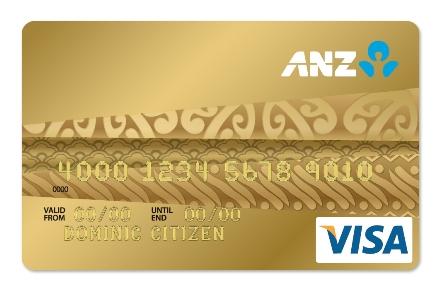 thẻ tín dụng visa ANZ hạng vàng